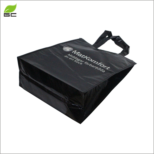 Custom Printed Logo Recycled Laminated Non Woven Shopping Tote Bag For Packing Shoes