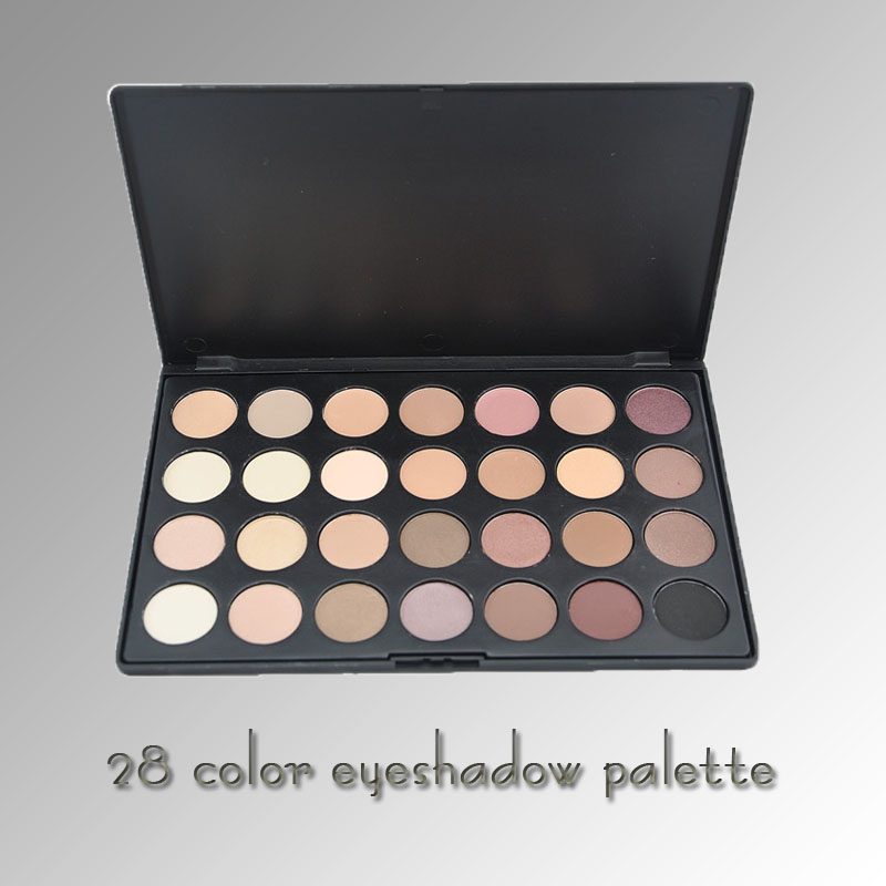 Great quality 28 netural color makeup eyeshadow palette customized color private Logo