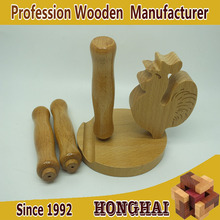 Wholesale custom wood products mobile phone base wooden handle