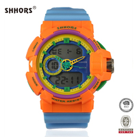 SHHORS Wholesale Price Outdoor Dual Time Multifuntion Sport Men Watch