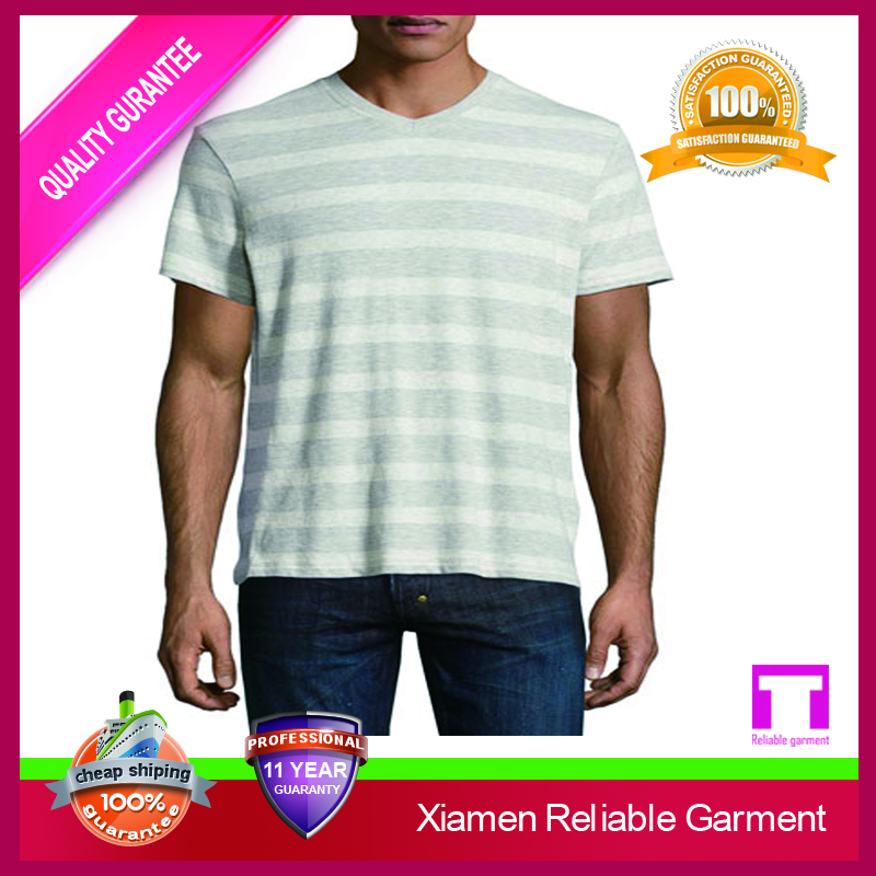 2016 Wholesale custom yarn dyed striped t shirts manufacturers in china clothing man china online shopping