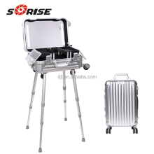 2018 Aluminum Rolling makeup case with lighted mirror beauty case Cosmetic OEM/ODM Welcomed
