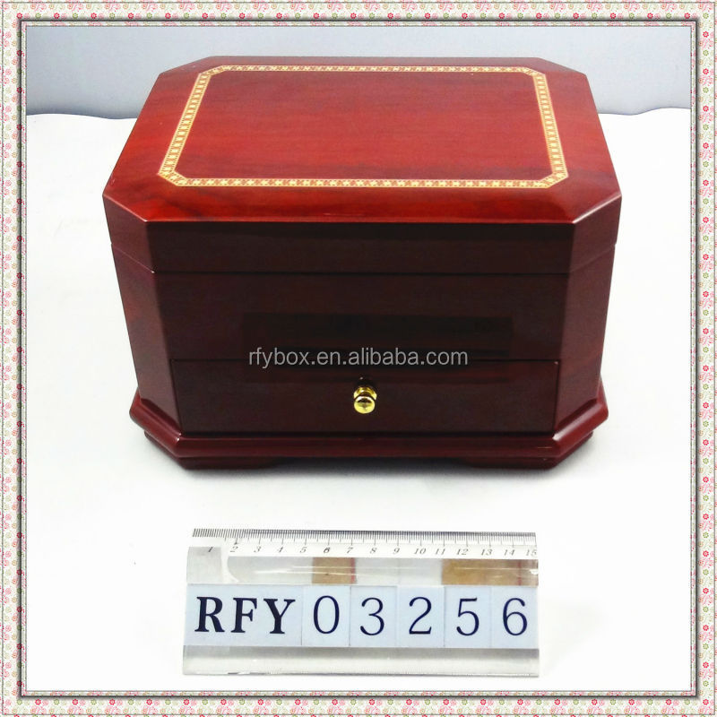 high end wooden jewelry cases with dividers and drawer