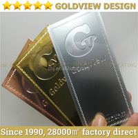 Real pure 24ct gold /rose gold /platinum plated mirror finish luxury metal cards