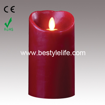 7inch artificial dancing flame led candle