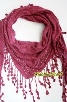 100% Polyester knitted fashion pendant scarf