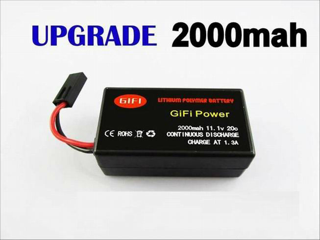 2000mah upgrade ar drone battery for Parrot 2.0