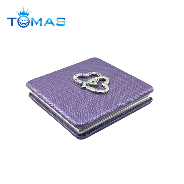 Pocket mirror blank square shaped makeup metal compact bridesmaid glass