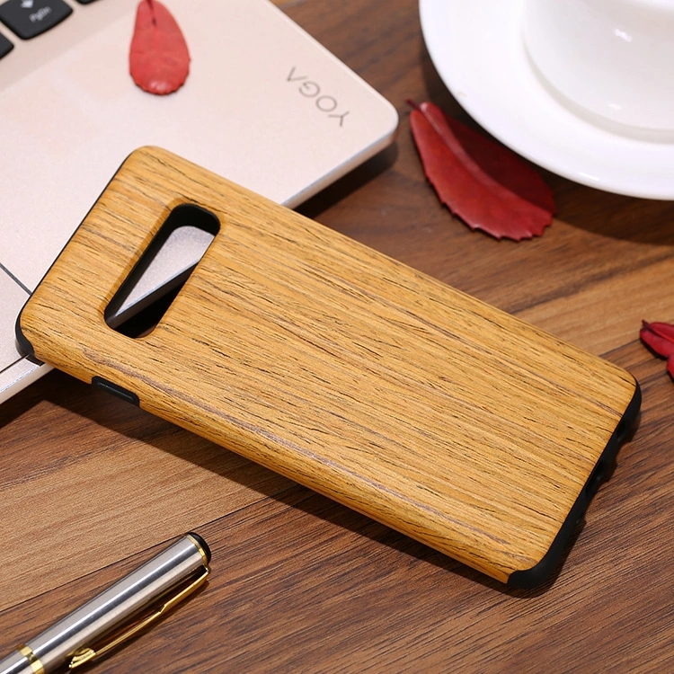 Luxury Slim Blank Wooden TPU Back Phone Case for Samsung Galaxy S10 S10 Plus S10e