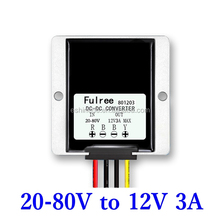 New DC DC Step Down Converter 20-80V to 12V 3A Voltage Regulator for Car Electric vehicle