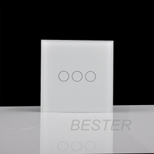 EU electric <strong>switch</strong>,crystal glass panel touch screen <strong>switch</strong> with 3gany 1way BS053