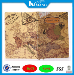 2015 Hot Selling World Map Printing Cover for Passport Holder