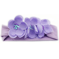 Fashion fabric flower baby crochet headband