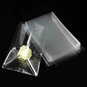 China Factory Clear Custom Printed Flat Opening OPP CPP PE Plastic Poly Bag/