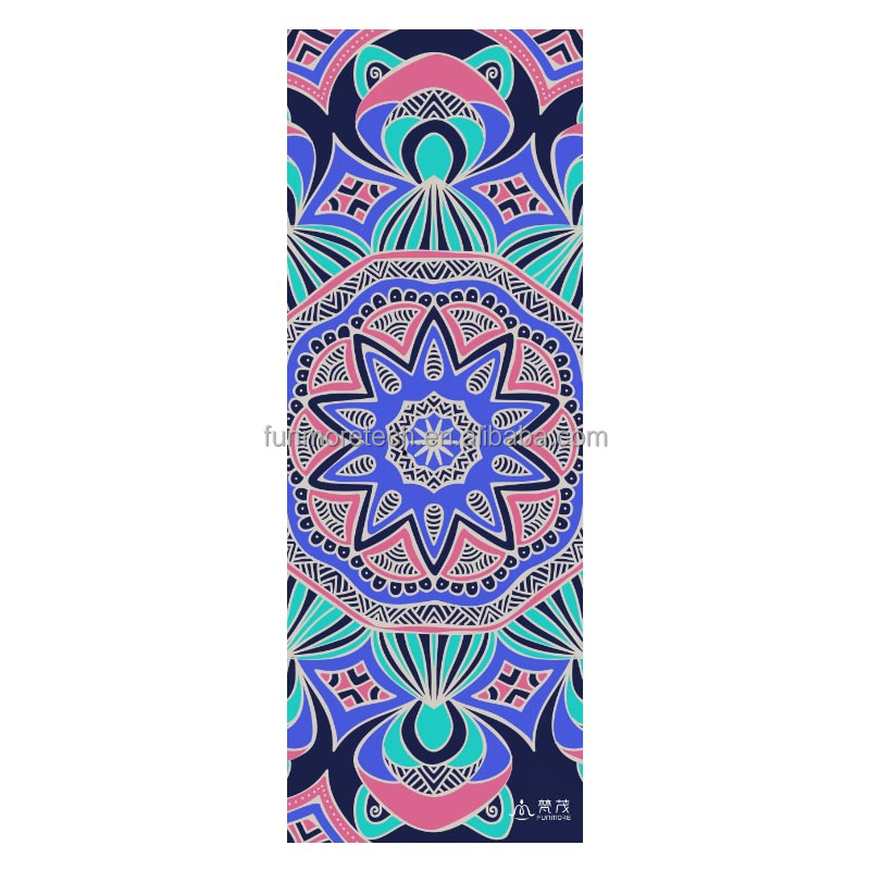 wholesale natural rubber yoga mat printed
