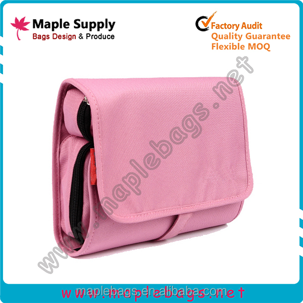 Fold Up Cosmetic Bag with Hook