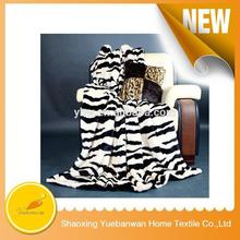 Famouse Brand Printing Knitted genuine mink fur blanket