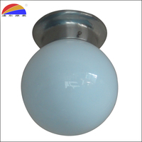 Surface mounting glass ball shade ceiling light fittings fit E26 E27 bulb for indoor