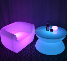 PE plastic color changing bar furniture glow led light sofa with remote control