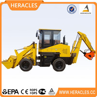 Hot sale mini farm tractor with front end wheel backhoe loader