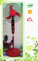 Good quality unique 12v dc solar outdoor stand fan with battery and timer