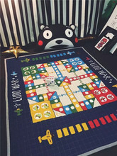 custom digitial printing game play mat for adult, kids play mat