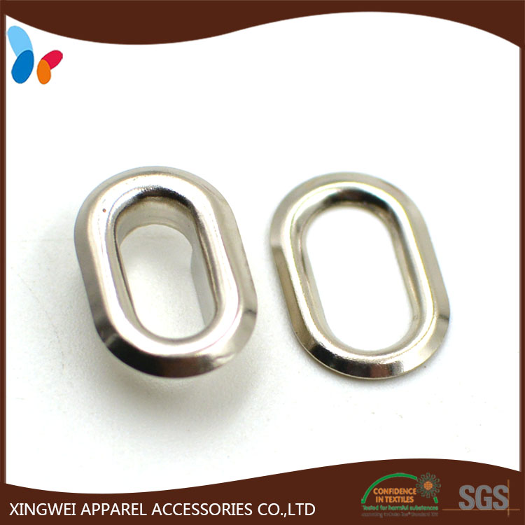Rack plating nickel oval metal brass eyelet for curtain