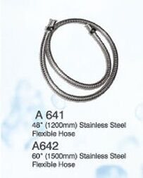 F1/2 x F1/2 x 120CM S/STEEL FLEXIBLE HOSE