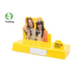 Custom Design Yellow Acrylic Cosmetic Display Stand for Shopping Mall