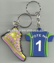 Promotional Souvenir Gift OEM Custom 3d Soft PVC tap shoe Keychain Key Chain 3d shoe / Soft Rubber Keychains / Silicone Keyring