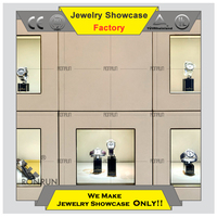 Hot 2015 fashion wall watch display case display cabinet for watch store furniture