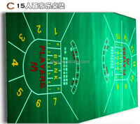 Poker Table Fabric ( casino equipment with flocking nylon and rubber materia)oval folding poker table top