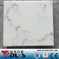 Artificial marble,quartz stone cut to size big slab,white color grey vein