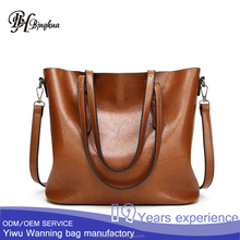 AL-026 New designer customized fashion European vintage soft leather women shoulder hand hobo bag