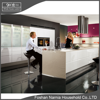 Foshan Narnia flat pack free design kitchen cabinet model
