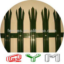 Color PVC Coated Palisade Fence Pale