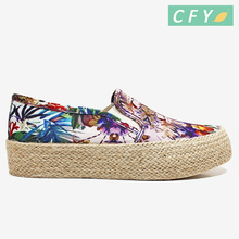 Popular design girls fashion beach vacation shoes women wedges shoes famous shoes brands in china
