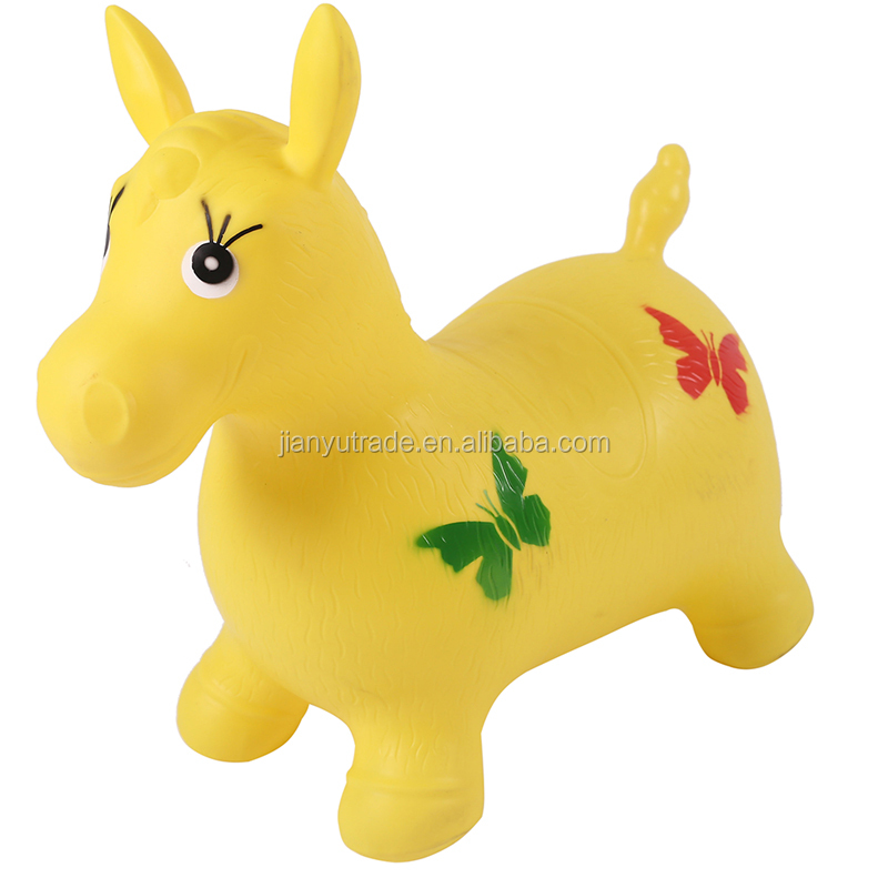Top sale PVC horse jumping animal Bouncing Inflatable animal toys for kids