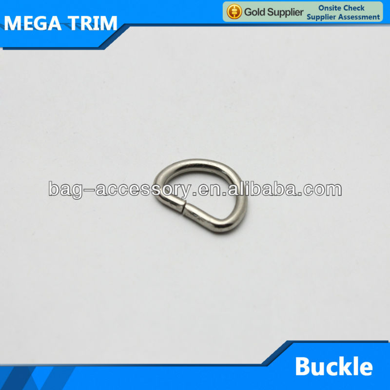 Small silver buckle open metal d ring