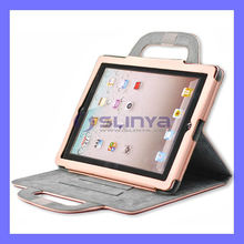 Fancy Designed Hand Carring Leather For iPad 2 Smart Case