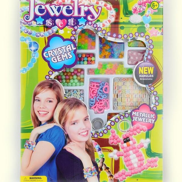 Make Your Own Friendship bead Bracelets Bangles Kit Craft Set