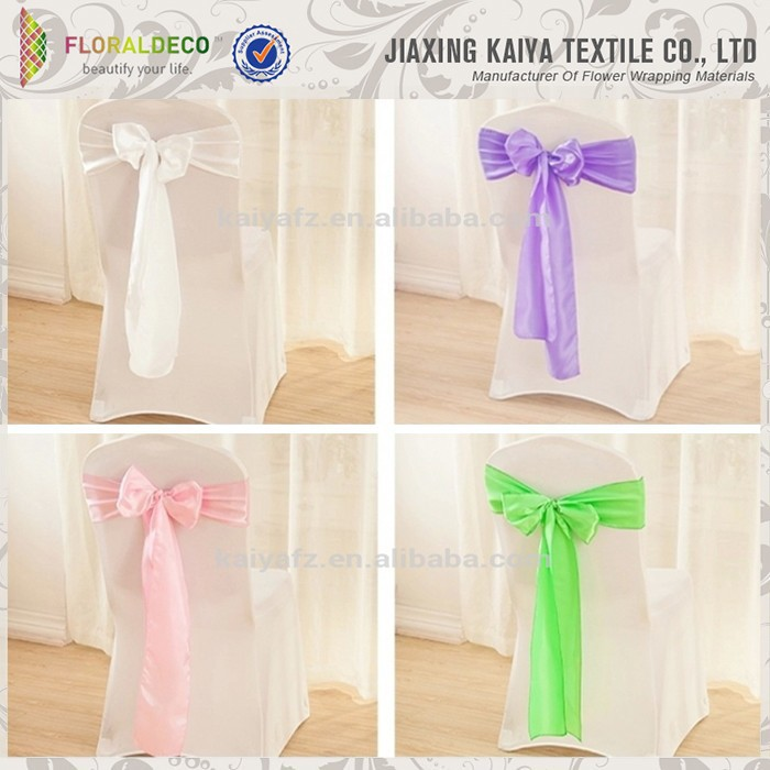 Colorful stain material banquet wedding decoration sashes
