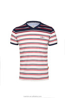 100% mercerized cotton customized striped polo t-shirt for men