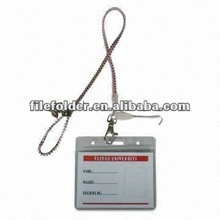 plastic name card holder with lanyard