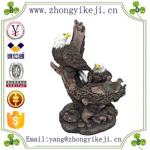 2015 chinese factory custom made handmade carved hot new product large polyresin outdoor eagle statues