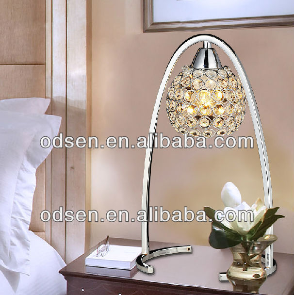 iron base crystal antique brass table lamp dressing table