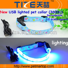 New Pet supply Flashing The Colorful lollipops Series PET3600U Wholesale pet collars