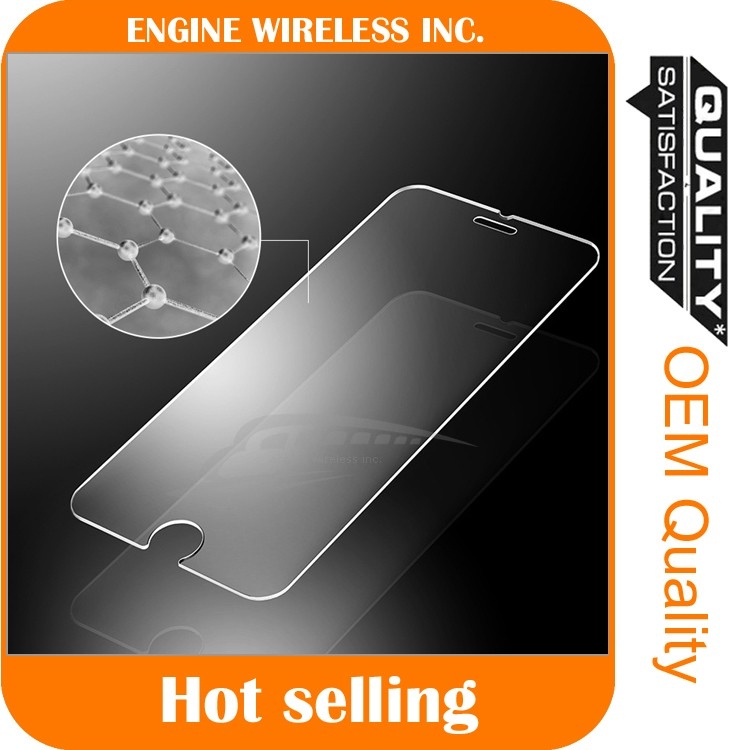high quality fast shipping tempered glass screen protector for iphone 6