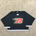 Custom sublimation 100% polyester fabr black fans ice hockey jersey