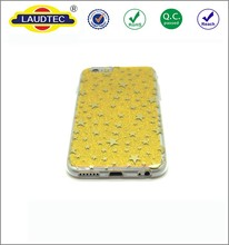 Foil Printing OTM Classic Prints Yellow Phone Silicone Back case for IPhone 6 --------- Laudtec